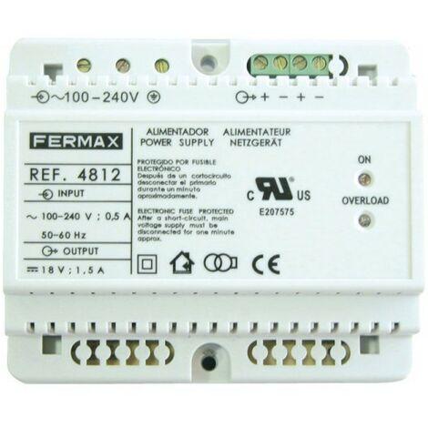 Alimentador 18VCC/1,5A DIN6. FERMAX 4812
