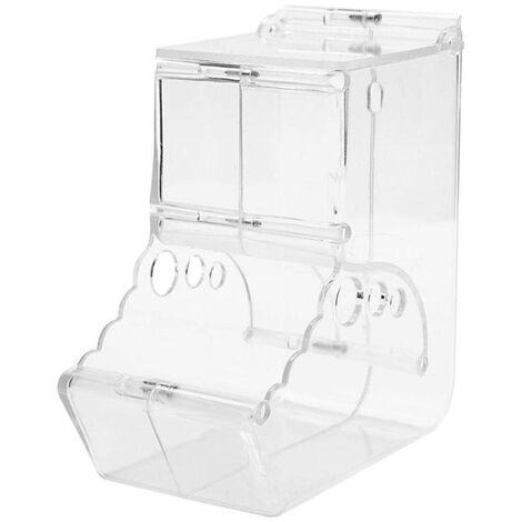 Alimentador automatico del animal domestico, Pajaro hamster alimentador de Pequenos Animales, plastico dispositivo de alimentacion de agua y alimentos Dispensador para Hamster Aves loros erizo, Transparente, 2 #
