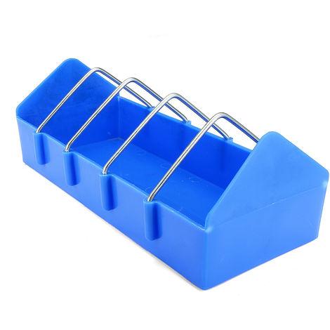 Alimentador de pollo de plástico de 10.2 pulgadas Jaula de aves de corral Bebedero de jaula Aves Flujo de agua Copa de flujo LAVENTE