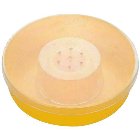 Alimentador del agua de la colmena de abeja Ronda alimentador rapido Beber herramienta apicultor Tazon portatil Salvaje abeja apicultor para Suministros herramienta de la colmena