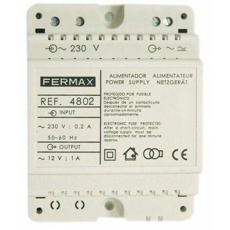 """main image of """"Alimentador DiN4 FERMAX 4802 230VAC/12VAC-1A"""""""