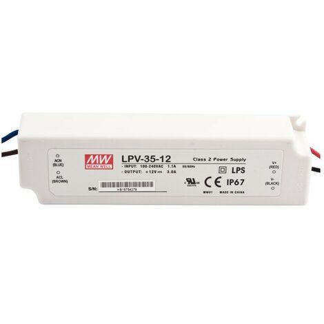 Alimentador Para LEDs 12V 36W IP67
