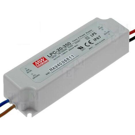 Alimentador Para LEDs 9-48V 16,8W 350mA