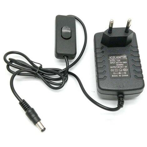 Alimentation 12V/2A avec interrupteur