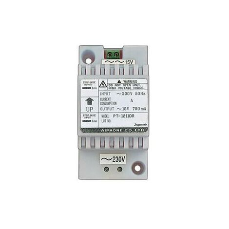 Alimentation 230 Vac / 15 Vac - 0,7 A - AIPHONE PT1211DR - 110545