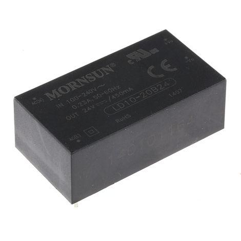 Alimentation à découpage intégrée SMPS 10W monosortie, tension : 24V cc, courant : 450mA