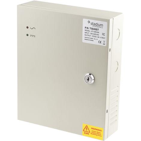 Alimentation à découpage intégrée SMPS 60W 4 sorties, tension : 12V cc, courant : 5A