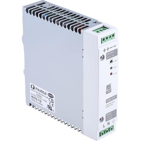 Mean Well HDR-100-12N Bloc dalimentation 1 Sortie 100 W Montage Rail 12 V 7,5 A Utilisation Industrielle