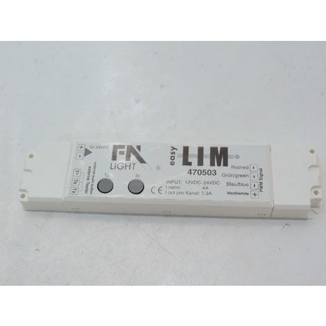 Alimentation avec contrôleur intégré pour bandeau LED RGB limité 45W en 12V et 90W en 24V EASY LIM DECLIC 470503