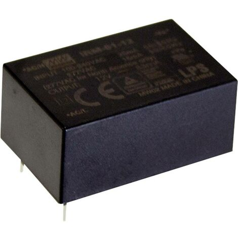 Alimentation CA/CC pour circuits imprimés Mean Well IRM-01-12 IRM-01-12 12 V/DC 83 mA 1 W 1 pc(s)