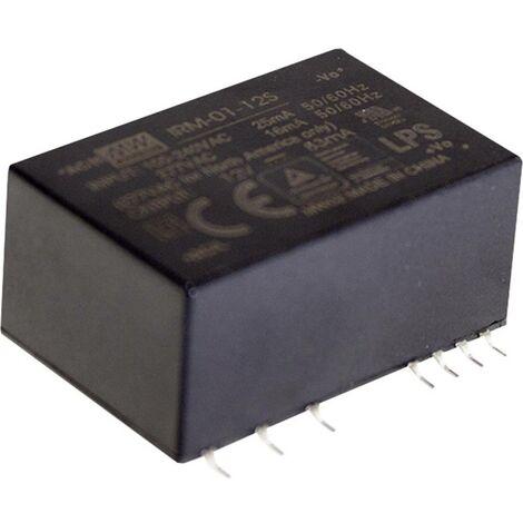 Alimentation CA/CC pour circuits imprimés Mean Well IRM-01-5S IRM-01-5S 5 V/DC 200 mA 1 W 1 pc(s)