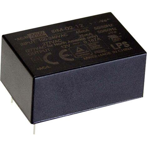 Alimentation CA/CC pour circuits imprimés Mean Well IRM-02-3.3 IRM-02-3.3 3.3 V/DC 600 mA 2 W 1 pc(s)