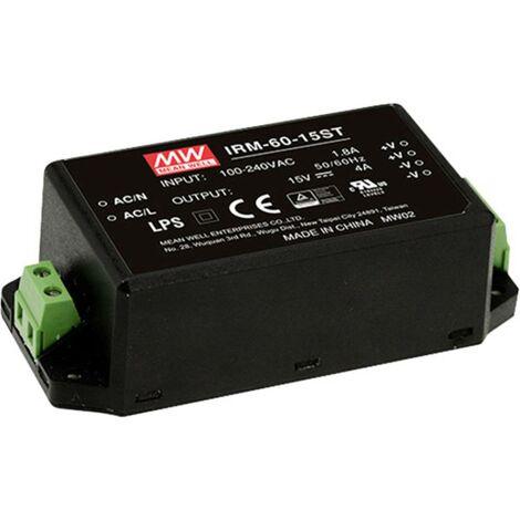 Alimentation CA/CC pour circuits imprimés Mean Well IRM-60-24ST IRM-60-24ST 60 W 1 pc(s)