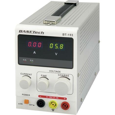 """main image of """"Alimentation de laboratoire réglable Basetech BT-153 0 - 15 V/DC 0 - 3 A 45 W Nbr. de sorties 1 x 1 pc(s) Y02814"""""""