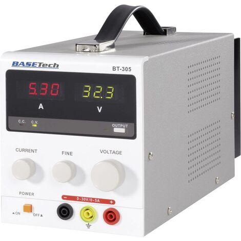 Alimentation de laboratoire réglable Basetech BT-305 0 - 30 V/DC 0 - 5 A 150 W Nbr. de sorties 1 x 1 pc(s)