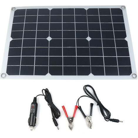 Alimentation D'Énergie De Chargeur De Batterie De Panneau Solaire De 20W 12V Extérieur Pour Le Bateau De Voiture De Téléphone