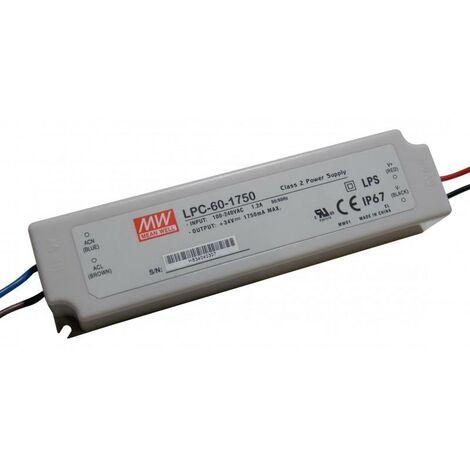 Alimentation électrique des LED 9-34V 59,5W 1750mA