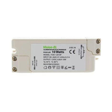 Alimentation électronique pour LED 12V DC 10W