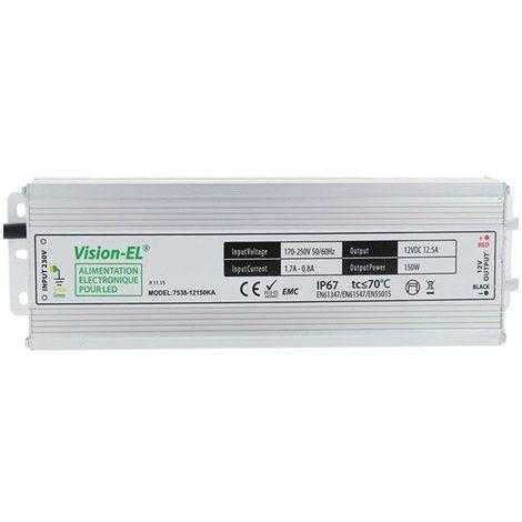 Alimentation électronique pour LED 12V DC 150W