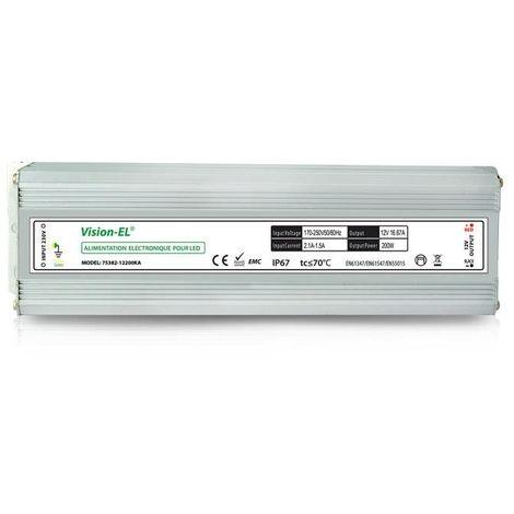 Alimentation électronique pour LED 12V DC 200W IP67