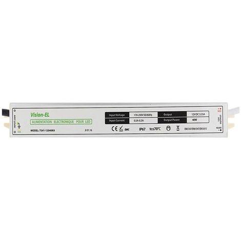Alimentation électronique pour LED 12V DC 40W