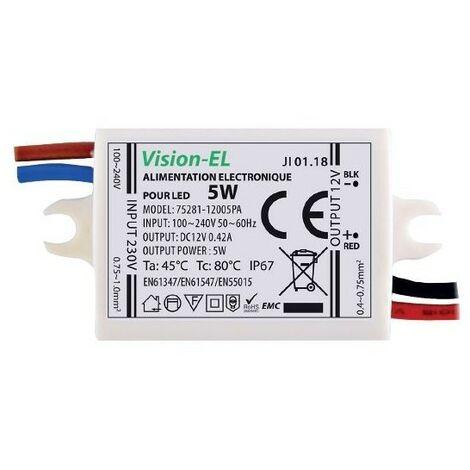 Alimentation électronique pour LED 12V DC 5W