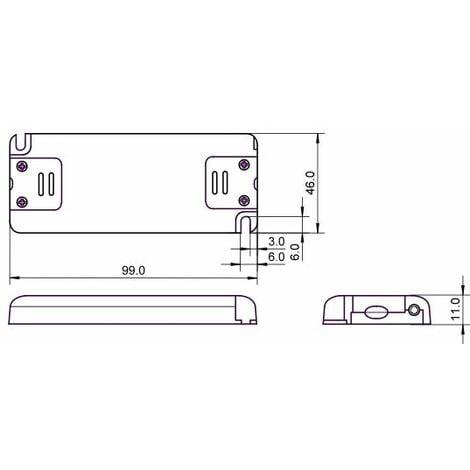 "main image of ""Alimentation LED 230VAC-12VDC 0-6W slim"""