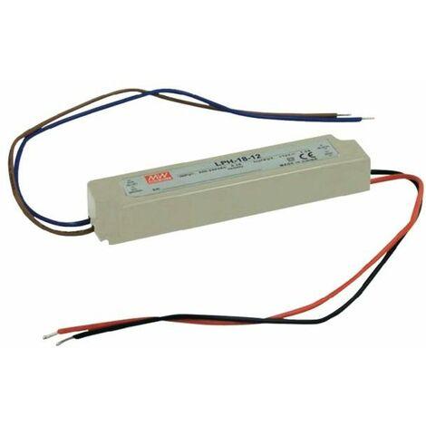 Alimentation LED 24V 18W IP67 Entrée 230VAC