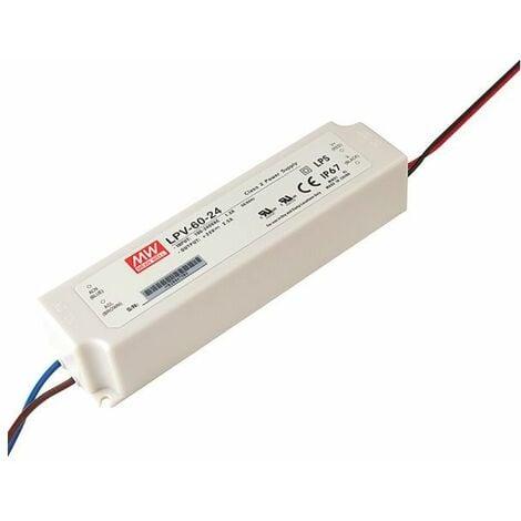 Alimentation LED 24V 60W IP67 Entrée 230VAC