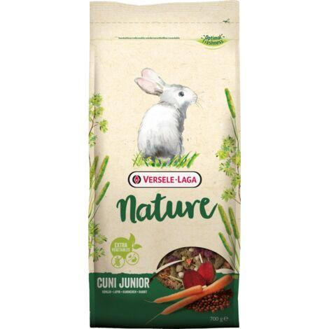 Alimentation Mélange varié et riche en fibres 700G pour lapins (nains) jusqu'à 8 mois