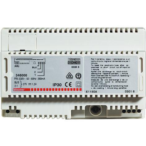 Alimentation MyHOME BUS - 230 V~ - 27 V - 1,2 A - pour diffusion sonore/portier