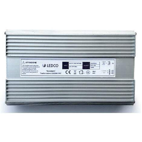 Alimentation pour Led Ledco 200W 24V IP67 TR24200/67