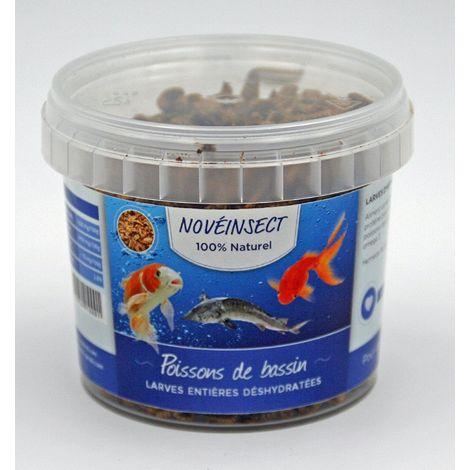 Alimentation pour poissons de bassin larges entières déshydratées 90 gramme