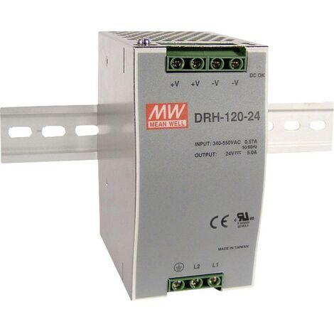 Alimentation rail DIN Mean Well DRH-120-24 5 A 120 W 1 x