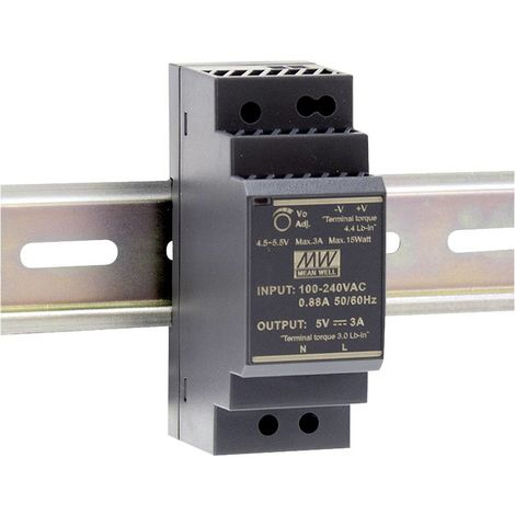 Alimentation rail DIN Mean Well HDR-30-15 HDR-30-15 15 V/DC 2 A 30 W 1 x 1 pc(s)