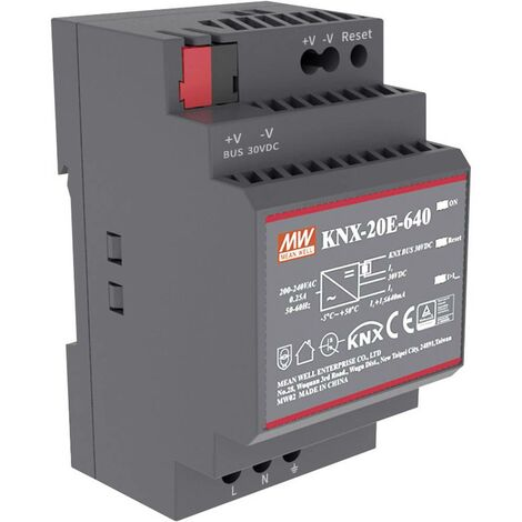 Alimentation rail DIN Mean Well KNX-20E-640 KNX-20E-640 30 V/DC 640 mA 19.2 W 1 x 1 pc(s)