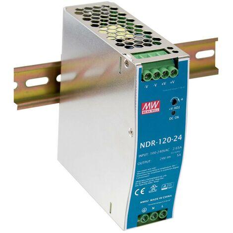 Alimentation rail DIN Mean Well NDR-120-24 NDR-120-24 24 V/DC 5 A 120 W 1 x 1 pc(s)