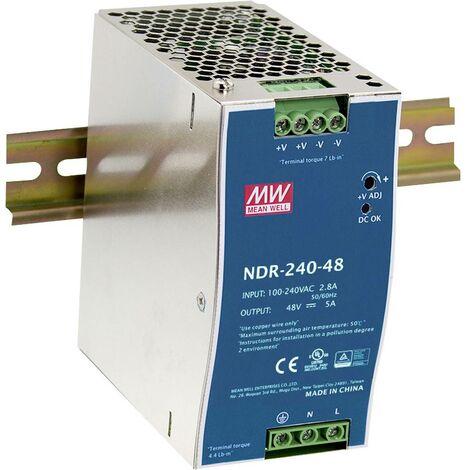 Alimentation rail DIN Mean Well NDR-240-24 NDR-240-24 240 W 1 x 1 pc(s)