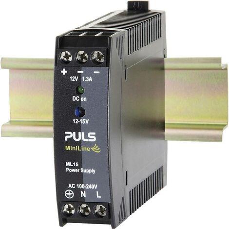 Alimentation rail DIN PULS MiniLine ML15.121 15 V/DC 1.3 A 15 W 1 x