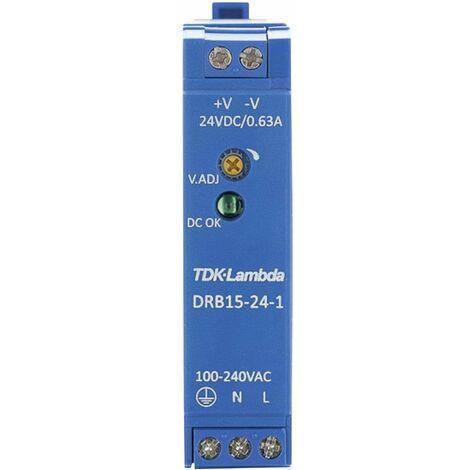 Alimentation rail DIN TDK-Lambda DRB-15-24-1 28 V/DC 0.63 A 15 W 1 x