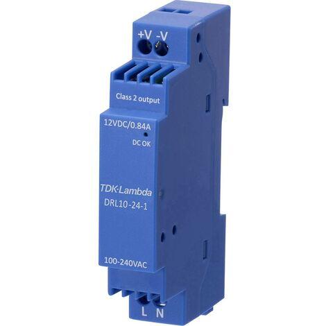 Alimentation rail DIN TDK-Lambda DRL-10-12-1 DRL-10-12-1 12 V 0.84 A 10.08 W 1 pc(s)