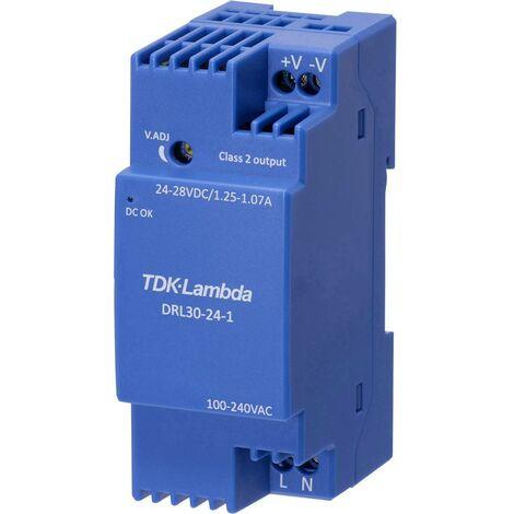 Alimentation rail DIN TDK-Lambda DRL-30-15-1 DRL-30-15-1 15 V 1.68 A 25.2 W 1 pc(s)