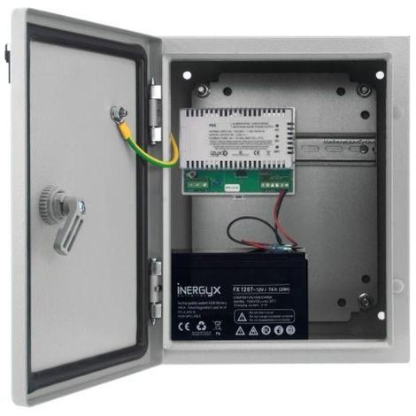 Alimentation secourable étanche IP 66 en coffret métal type PSW 230V AC / 12V DC en 2,6A