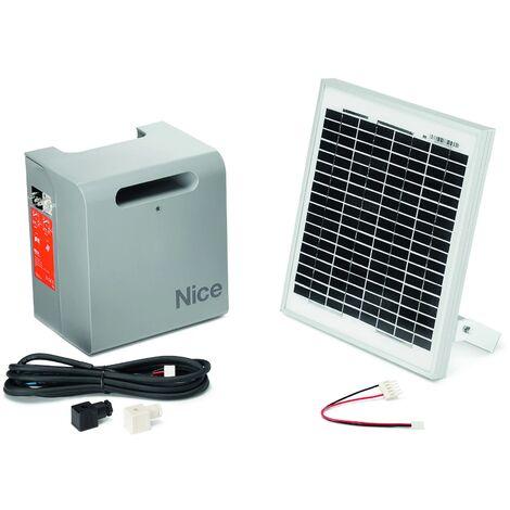 Alimentation solaire SOLEKIT pour motorisation de portail - Nice Home - Gris
