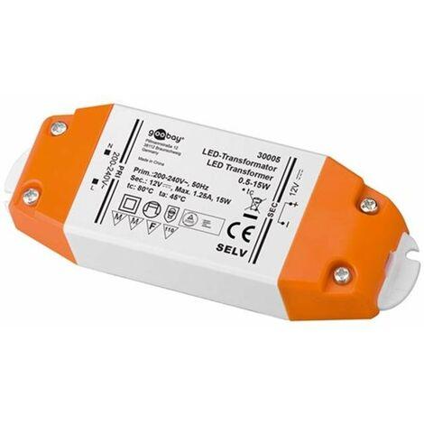 Alimentatore 12 volt 0 5 15 watt per lampadine led faretti for Lampadine led 1 watt