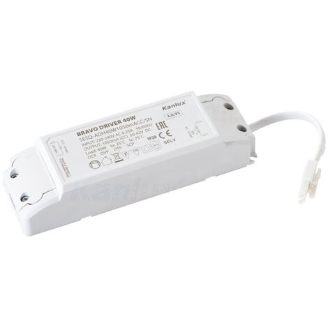 "main image of ""alimentatore driver pannello led 30-42 volt dc 220-240 volt 40 watt CE bianco interno kan 28026"""