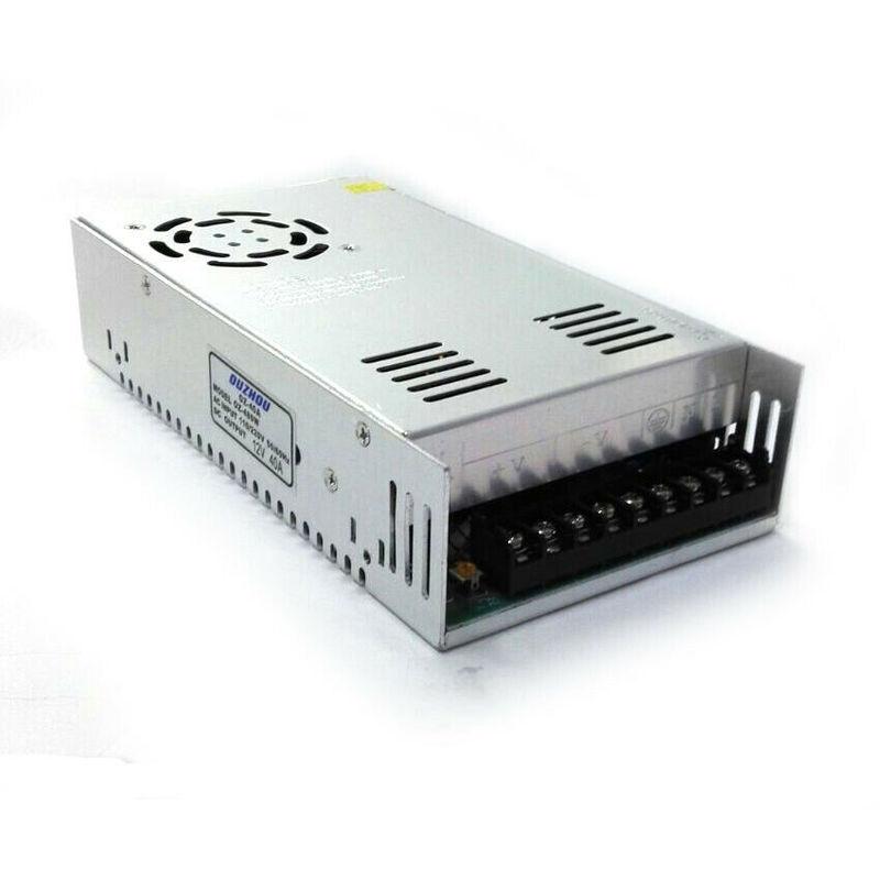 Alimentatore trasformatore 220v stabilizzato 12v 24v trimmer per led telecamera voltaggio: 12v amperaggio: 40a trimmer