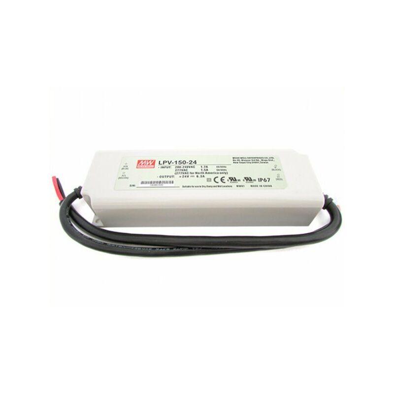 Alimentatore Trasformatore CV Impermeabile IP67 24V 150W 6,3A LPV-150-24 - Meanwell