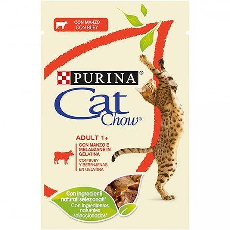 Alimento Húmedo Completo PURINA CAT CHOW BUEY para Gatos 24 x 85 gr