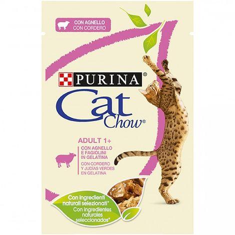 Alimento Húmedo Completo PURINA CAT CHOW CORDERO para Gatos 12 x 85 gr
